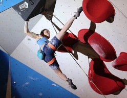 Anak Verhoeven competing in the European Climbing Championship Campitello 2017