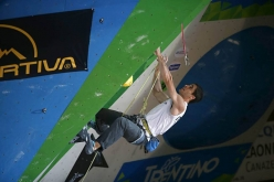 Marcello Bombardi competing in the European Climbing Championship Campitello 2017