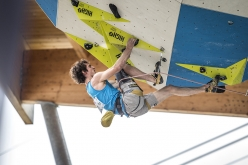 Adam Ondra during the European Lead Climbing Championship 2017 at Campitello, Italy
