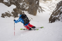Ski mountaineering in the Dolomites: Forcella Cinque Dita