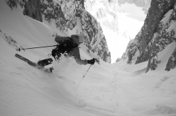 Ski mountaineering in the Dolomites: Canale Nord forcella Sasso Levante, Langkofel