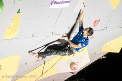 Romain Desgranges competing in the Lead World Cup 2017 at Briançon