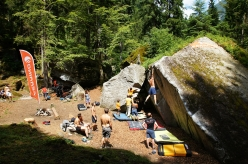 During the bouldering meeting GraMitico in Valle di Daone (TN), Italy