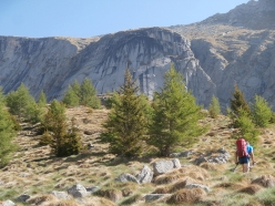 Walking up to the East Face of Monte Qualido, Val di Mello