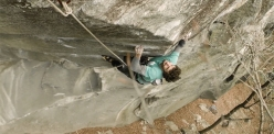 Jacopo Larcher attempting his trad climb project at Cadarese
