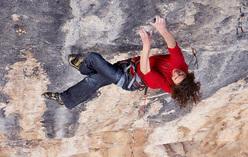 Adam Ondra climbing Papichulo 9a+, Oliana, Spain