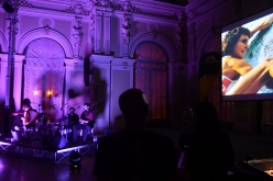 Stefan Glowacz in the video frame at the start of the Arco Rock Legends 2017 award's ceremony, music by Bottega Baltazar (Giorgio Gobbo, Graziano Colella, Sergio Marchesini) and Debora Petrina