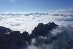 Spes Ultima Dea, Crozzon di Brenta: climbing above a sea of clouds!