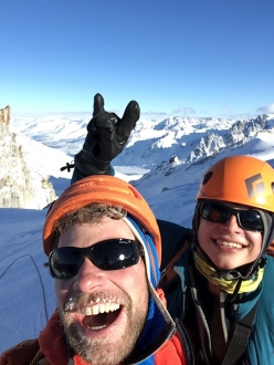 Revelation Mountains: Gediminas Simutis and Frieder Wittmann on the summit of the Prophet.