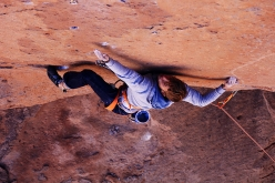 Pirmin Bertle climbing at Socaire in Bolivia, South America