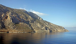 Local Cave high above the Arginonta Bay on Kalymnos.