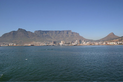 Table Mountain with Cape Town nestled  below