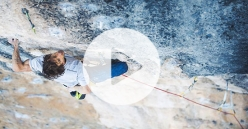 Patxi Usobiaga attempting Papichulo 9a+ at Oliana in Spain