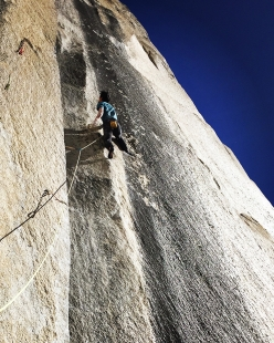 Keita Kurakami ripete in libera The Nose, El Capitan, Yosemite