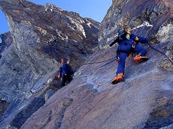 Val d'Ayas, Monte Rosa: on the Polluce normal route