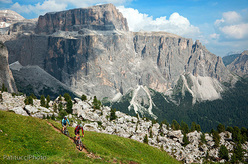 Con il mountain bike in Dolomiti.