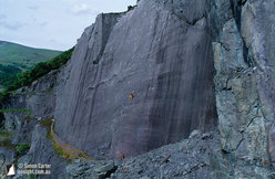 Rainbow Slab, Llanberis, North Wales