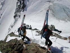 Ski mountaineering in Val Senales: on the ridge of Punta Finale
