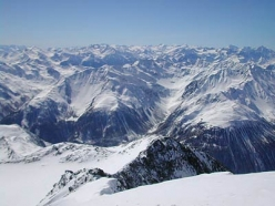 Ski mountaineering in Val Senales: the final slope of Punta Finale