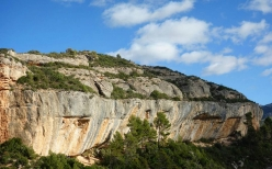The crag Margalef in Spain