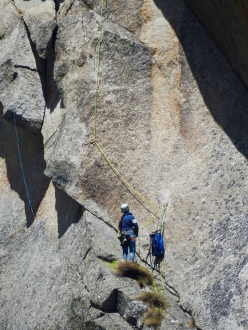 The first ascent of La sirenetta, Croz del Rifugio settore dx, Val d'Amola, Presanella (Francesco Salvaterra, Chiara Stenghel 27/07/2017)