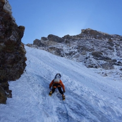 Alan Rousseau on day 1 of the first ascent of Rungofarka 6495 m in Himalaya, carried out together with Tino Villanueva