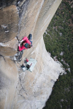 Barbara Zangerl making the first repeat of Magic Mushroom on El Capitan, Yosemite, carried out with Jacopo Larcher