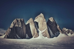 The Organ Pipe Peaks, Gothic Mountains, Antarctica. Spectre in the middle