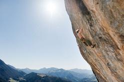 Adam Ondra climbing Goldrake 9a+ at Cornalba