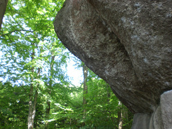 The impressive prow at the Waldkopf, breached by Wolfgang Güllich in 1991 with his Action Direct