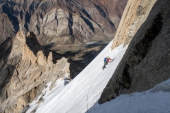 Climbing up Shafat Fortress, Zanskar, Indian Himalaya