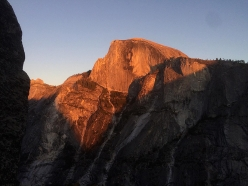 Sunset over Half Dome from Astroman, Yosemite