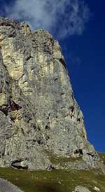 Tours d'Areu: the 1st tower. Alcootest climbs the arete on the horizon.