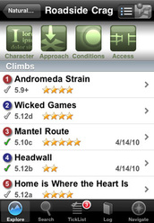 Red River Gorge Rock Climbs iPhone app