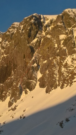 Cristian Candiotto making the first ascent of The Maniach, Cima Piazzotti Orientale South Face, Val Gerola