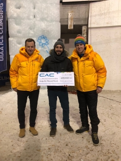 Climbers against Cancer a Saas Fee in Svizzera