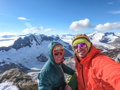 Luca Schiera and Matteo Della Bordella making the first ascent of Maracaibo up Cerro Pollone in Patagonia