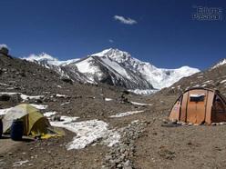 Shisha Pangma from Base Camp