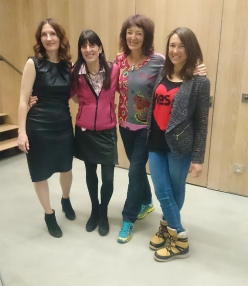 From left to right: Masha Gordon, Anna Torretta, Lydia Bradley and Liv Sansoz at the Grit & Rock Award 2018
