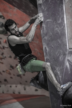 Italian Bouldering Cup 2018, first stage at Agrate Brianza: Andrea Zanone