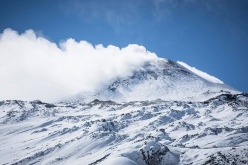 The North Face of Mt Etna, Sicily which hosts European Ski Mountaineering Championships from 22 - 24 February 2018