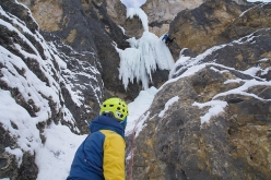 Making the first ascent of Once in a Lifetime, Val de Lietres, Dolomites (Daniel Ladurner, Hannes Lemayr, Florian Riegler)