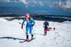 Individual Race of the European Ski Mountaineering Championships on the South Face of Etna, Sicily