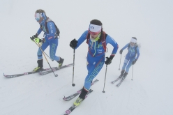 During the Vertical Race of the European Ski Mountaineering Championships on the South Face of Etna, Sicily