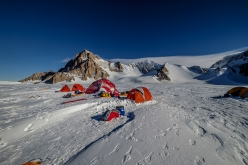 The French Base Camp below the Pirrit Hills, Antarctica