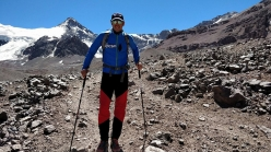 Los Picos 6500:  Michele Leonardi after having climbed Aconcagua