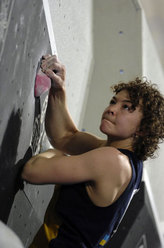 Olga Shalagina, winner in Hall during the 3rd astage of the Bouldering  World Cup 2007.