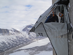 Arctic Monkeys VI A4 V+ 1400m, Sail Peaks, Baffin Island