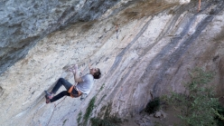 Daniel Woods climbing his first 9b, La Capella at Siurana, Spain
