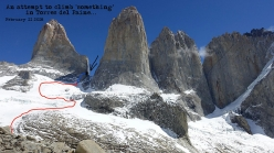 The attempt by Siebe Vanhee and Sean Villanueva O'Driscoll up the Torres del Paine, Patagonia